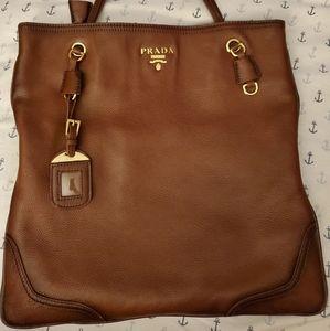 Leather Prada Tote bag